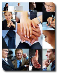 Business themed collage © Yuri Arcurs - Fotolia.com